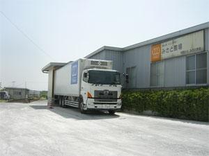 専用冷蔵車両による搬入